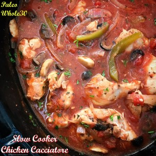 Slow Cooker Chicken Cacciatore (Paleo/Whole30)