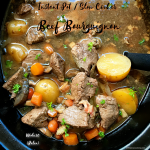 Beef bourguignon is a classic, French stew recipe. This whole30 (paleo option) beef bourguignon recipe can be made in your Instant Pot or slow cooker.