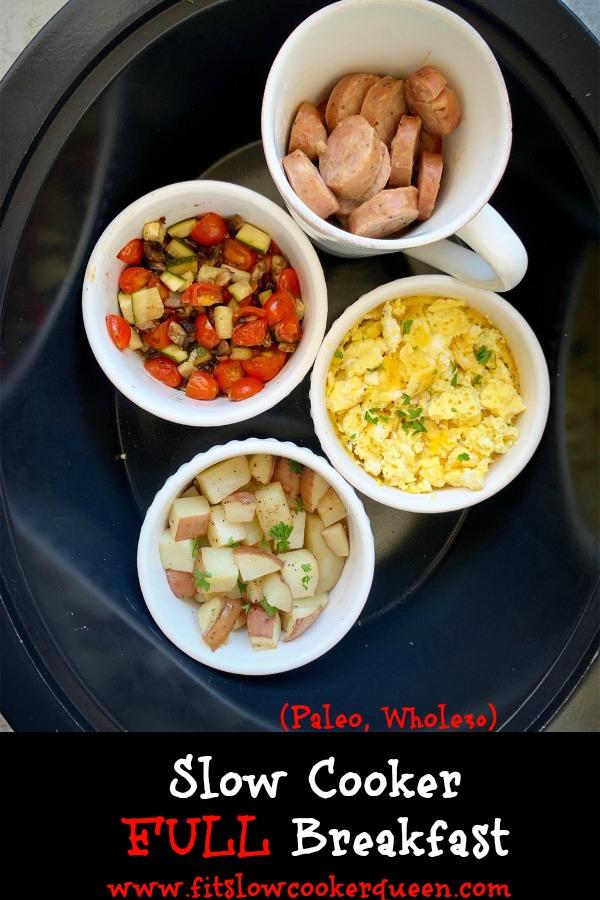 pinterest pin for Slow Cooker Full Breakfast (Paleo, Whole30) pin1