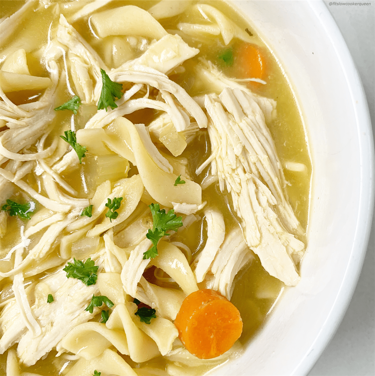 Chicken noodle soup is the ultimate comfort food. This easy soup recipe can be made in your slow cooker or Instant Pot.