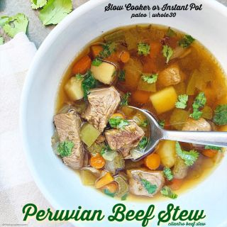 Slow Cooker/Instant Pot Peruvian Beef Stew (Paleo/Whole30)