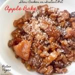 cover pic for slow cooker instant pot apple bake vegan paleo