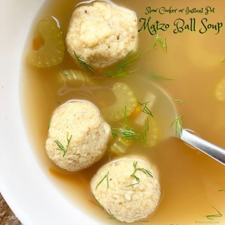 {VIDEO} Slow Cooker/Instant Pot Matzo Ball Soup