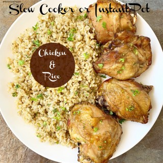 {VIDEO} Slow Cooker/Instant Pot Chicken & Rice