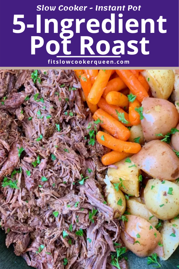 {VIDEO} 5-Ingredient Slow Cooker/Instant Pot Pot Roast (Paleo/Whole30)