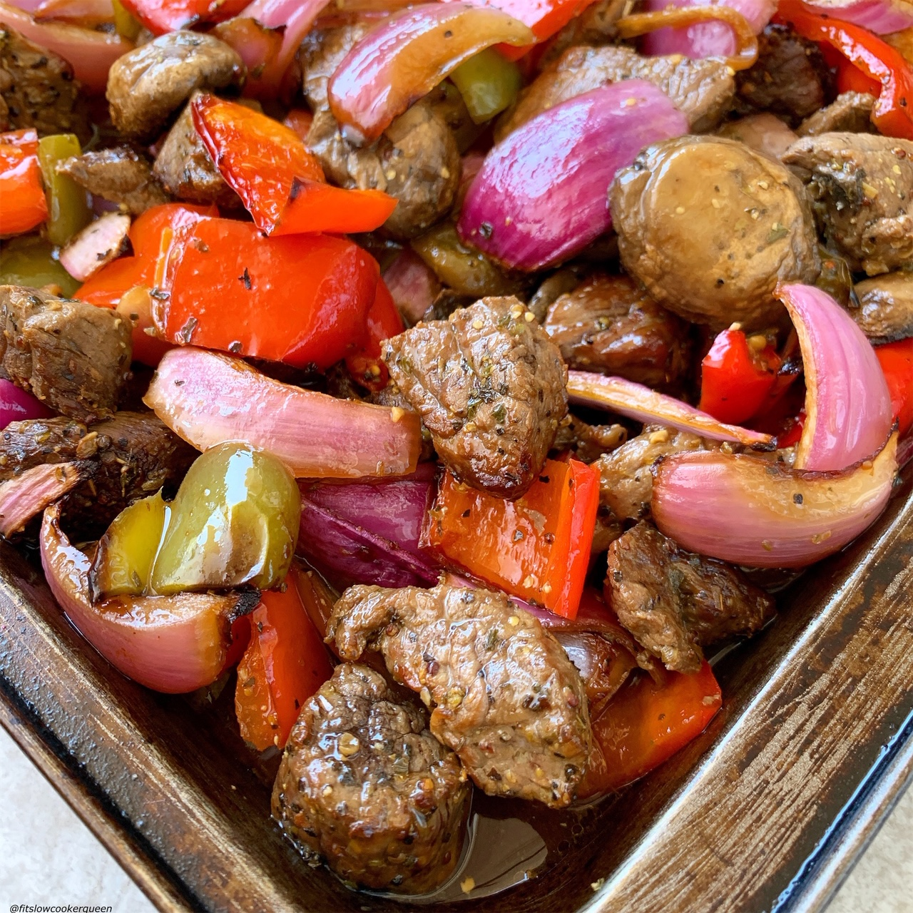 cooked Sheet Pan Deconstructed Beef Kebabs (Low-Carb, Paleo, Whole30) (6)