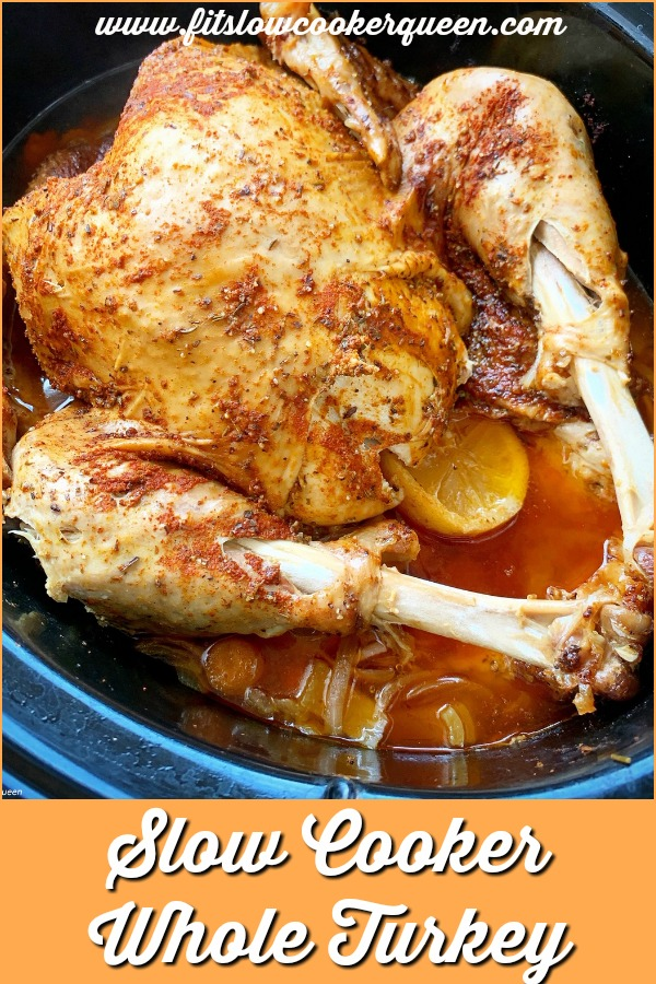 another pinterest pin for slow cooker whole turkey
