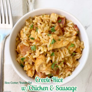 cover pic for {VIDEO} Slow CookerInstant Pot Creole Rice with Chicken & Sausage