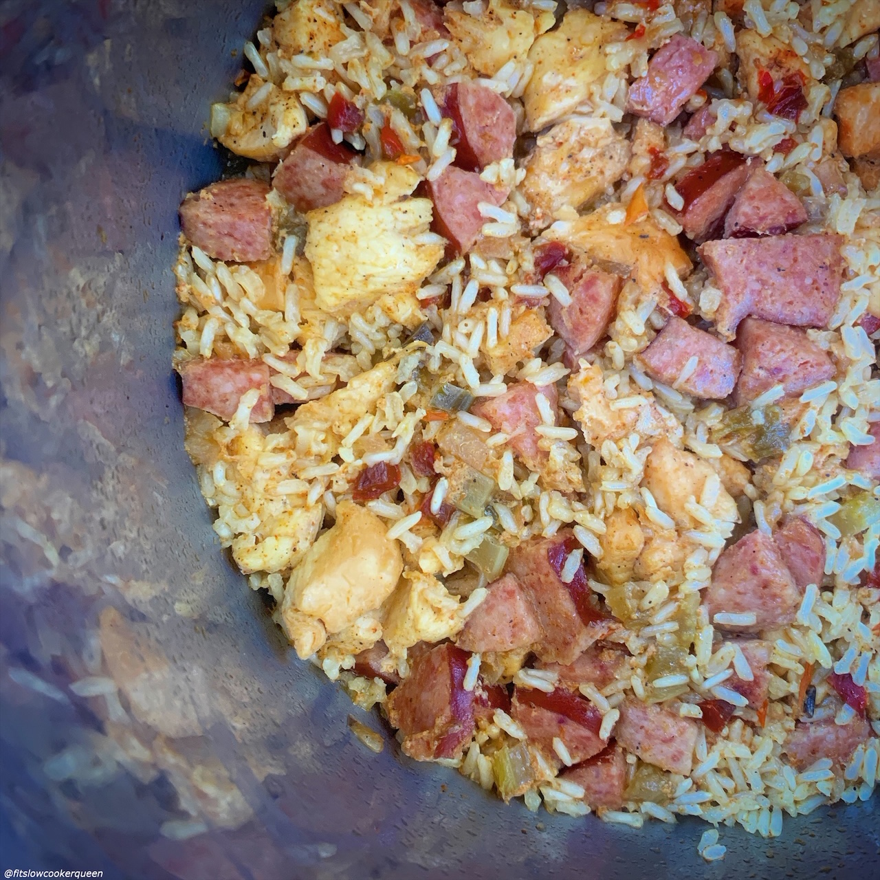 after pic of creole rice w/chicken & sausage in the instant pot
