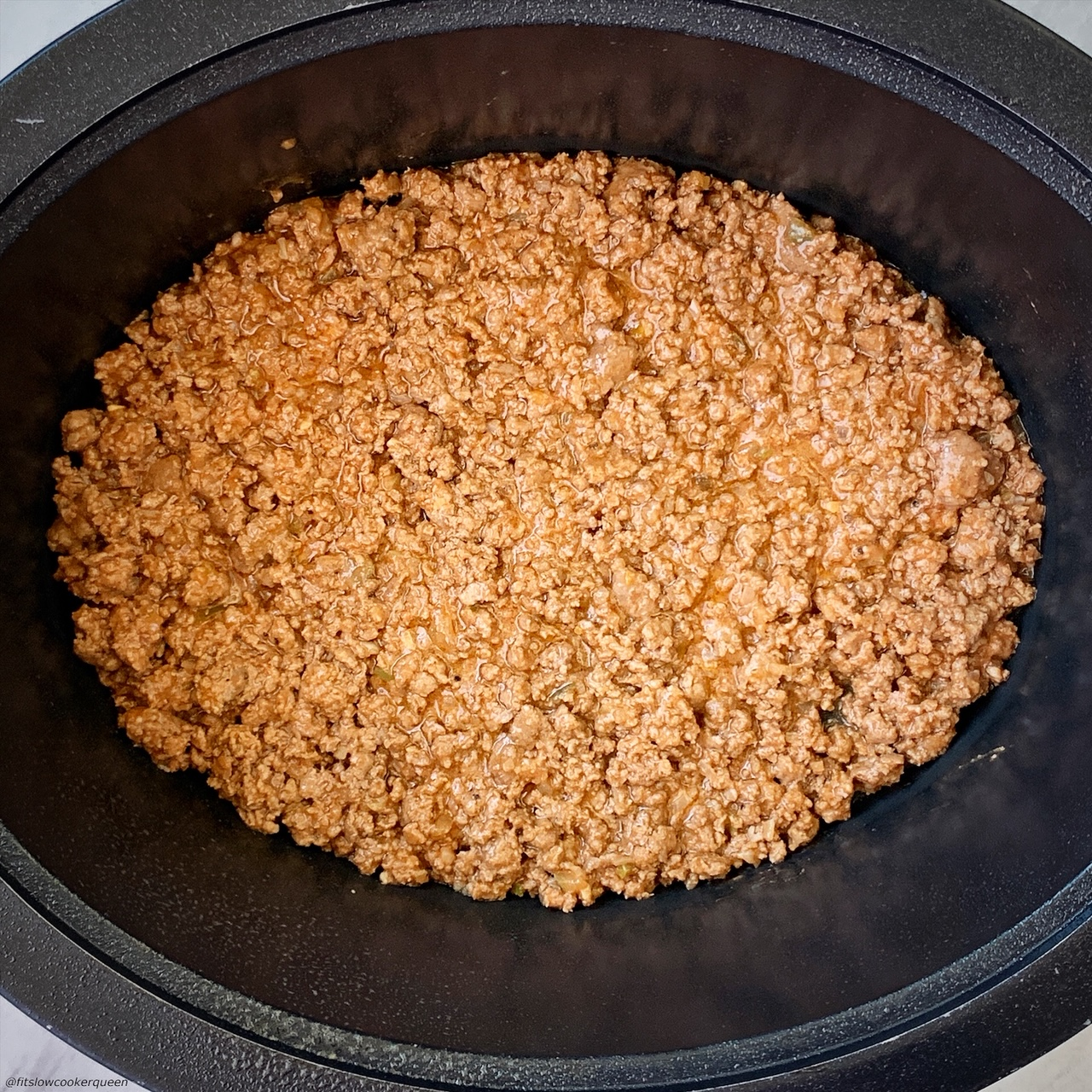 meat mixture for {VIDEO} Slow Cooker Cheeseburger Casserole (Low-Carb) in the slow cooker
