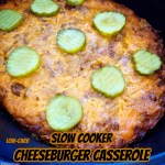 cover pic for {VIDEO} Slow Cooker Cheeseburger Casserole (Low-Carb)