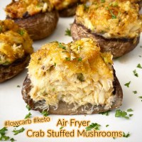 Air Fryer Crab Stuffed Mushrooms (Low-Carb, Keto)
