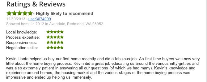 Excellent Realtor Reviews