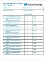 Interview Evaluation Form - IT / technical