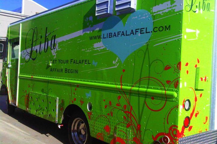 Ejemplo de diseño de envoltura de camión de comida