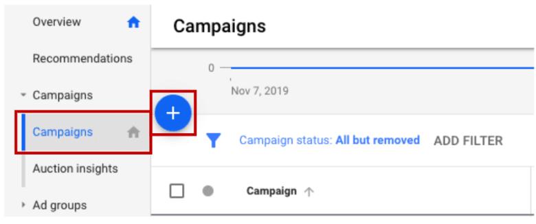 Crea una nuova campagna di annunci Google