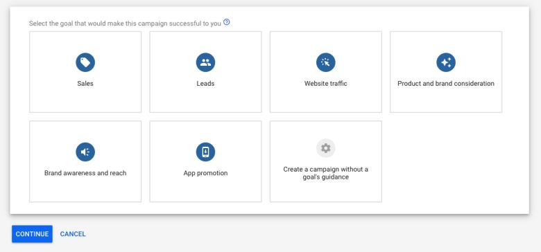 Obiettivi di marketing per le campagne pubblicitarie di Google