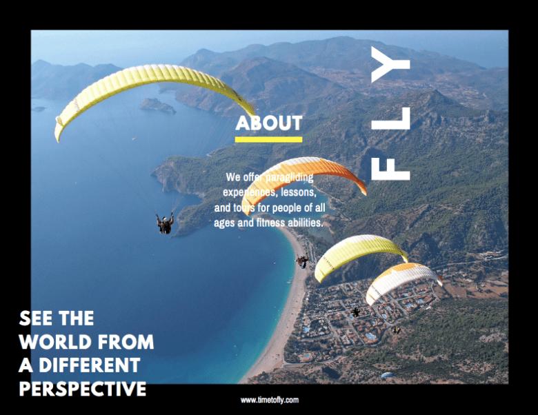 Canva - Esempio di brochure sport lato 1 lato