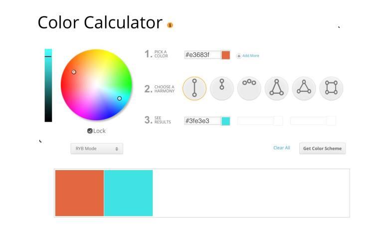 Interfaccia calcolatrice colore
