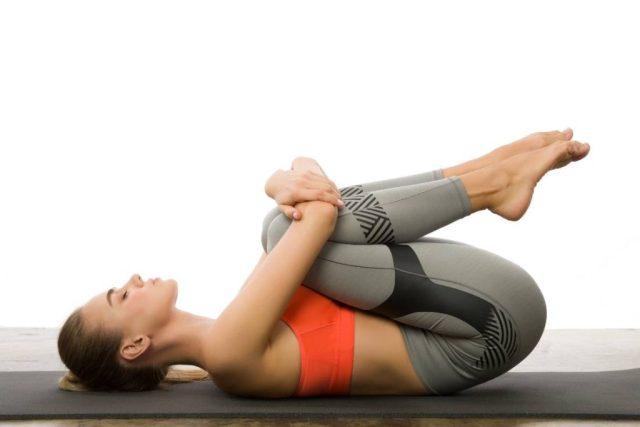 apanasana (knees to chest pose)
