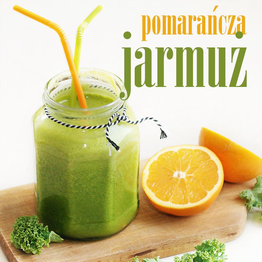 sok pomarańczowy z jarmużem