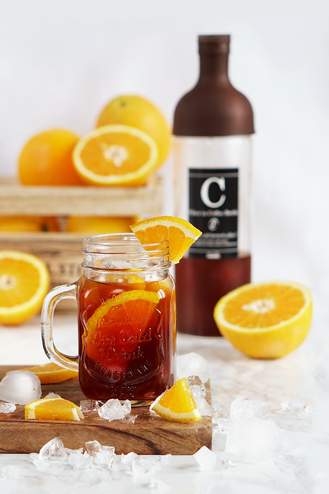 Cold brew z pomarańczą