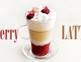 Wiśniowa latte macchiato