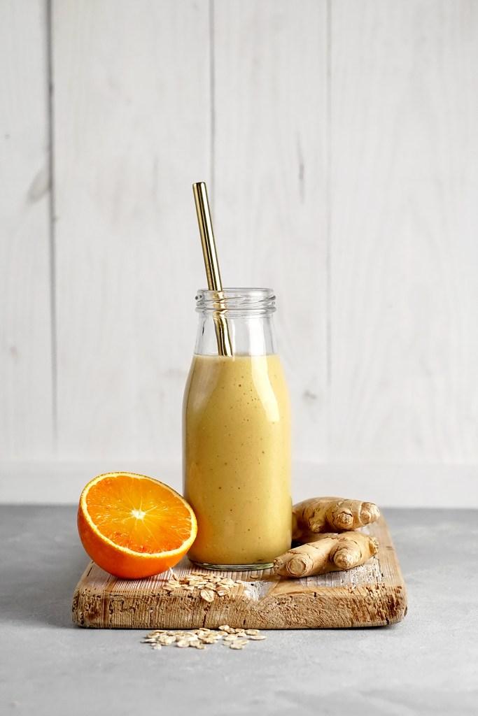Pomarańczowe smoothie z imbirem