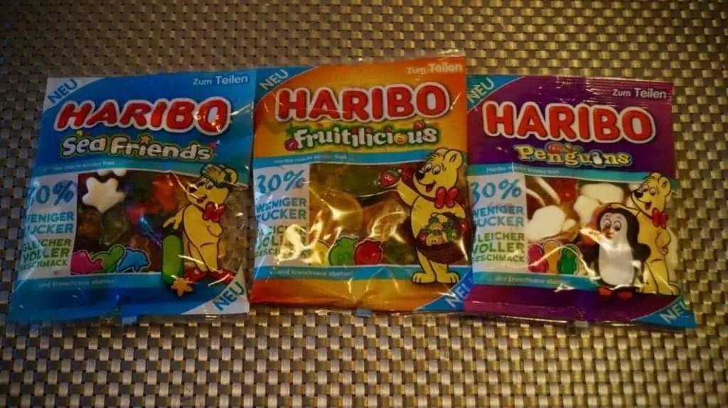 Die drei neuen haribo Sorten, mit 30% weniger Zucker
