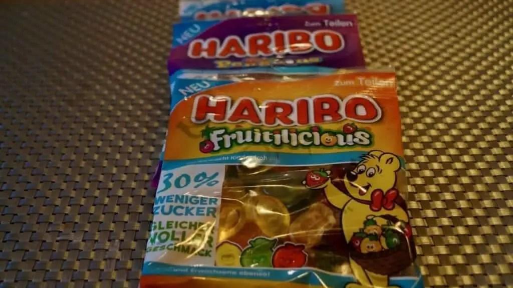 Haribo gummy bears with less sugar