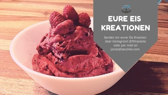 Sendet mir eure selbst gemachten Protein Eis Kreationen