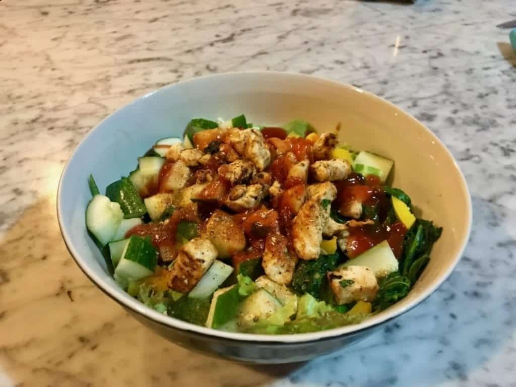 Mein Gesunder Hähnchensalat