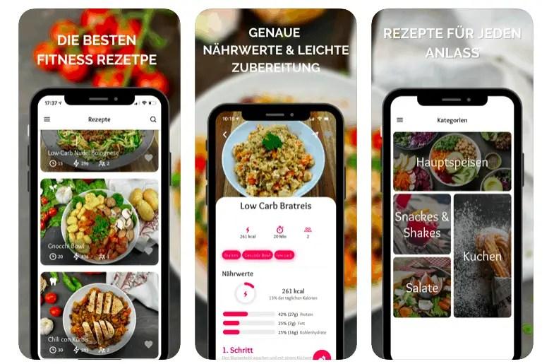 Die beste Fitness Rezepte App lasst uns gemeinsam besser werden
