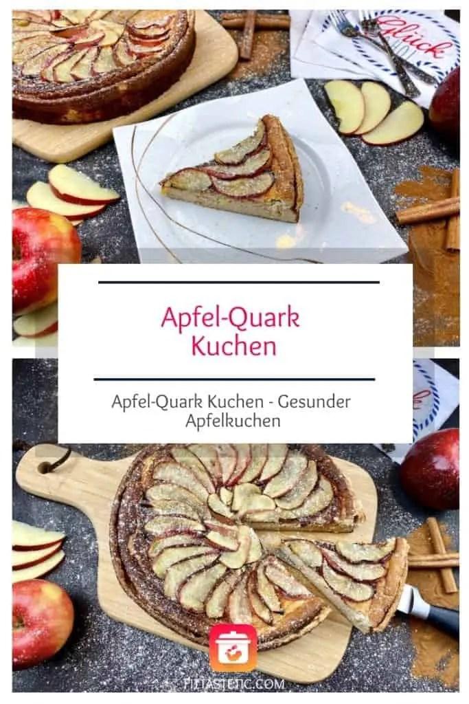 Dieser gesunde Apfelkuchen überzeugt sie alle! Mein Super leckerer Apfel-Quark Kuchen. Eine Kombination aus Apfelkuchen und Quarkkuchen! #apfelkuchen #rezepte #gesundbacken #gesunderkuchen #kuchnrezepte #gesunderezepte