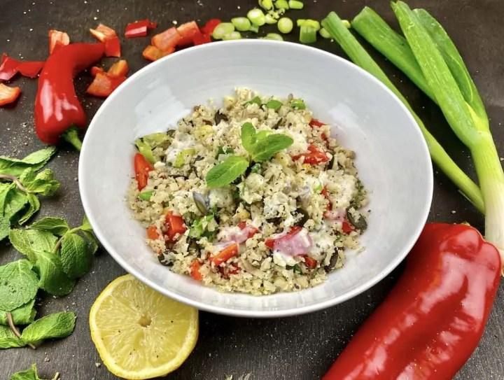 Gesunder Low Carb Blumenkohl Salat 1