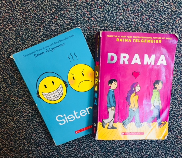 Raina Telgemeier is the new queen bee of the graphic novel. One of the more popular authors in my classroom library.