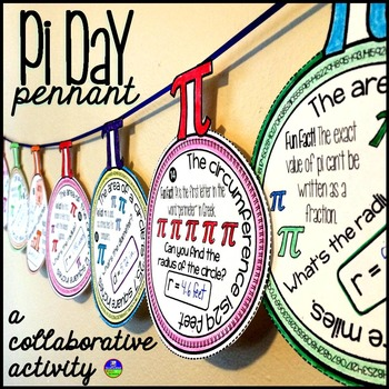 Pi Day Pennants from Scaffolded Math