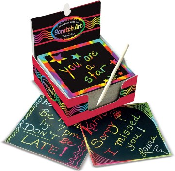 Scratch cards make wonderful inexpensive gifts for students!