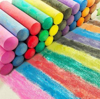 Sidewalk chalk makes wonderful inexpensive gifts for students!