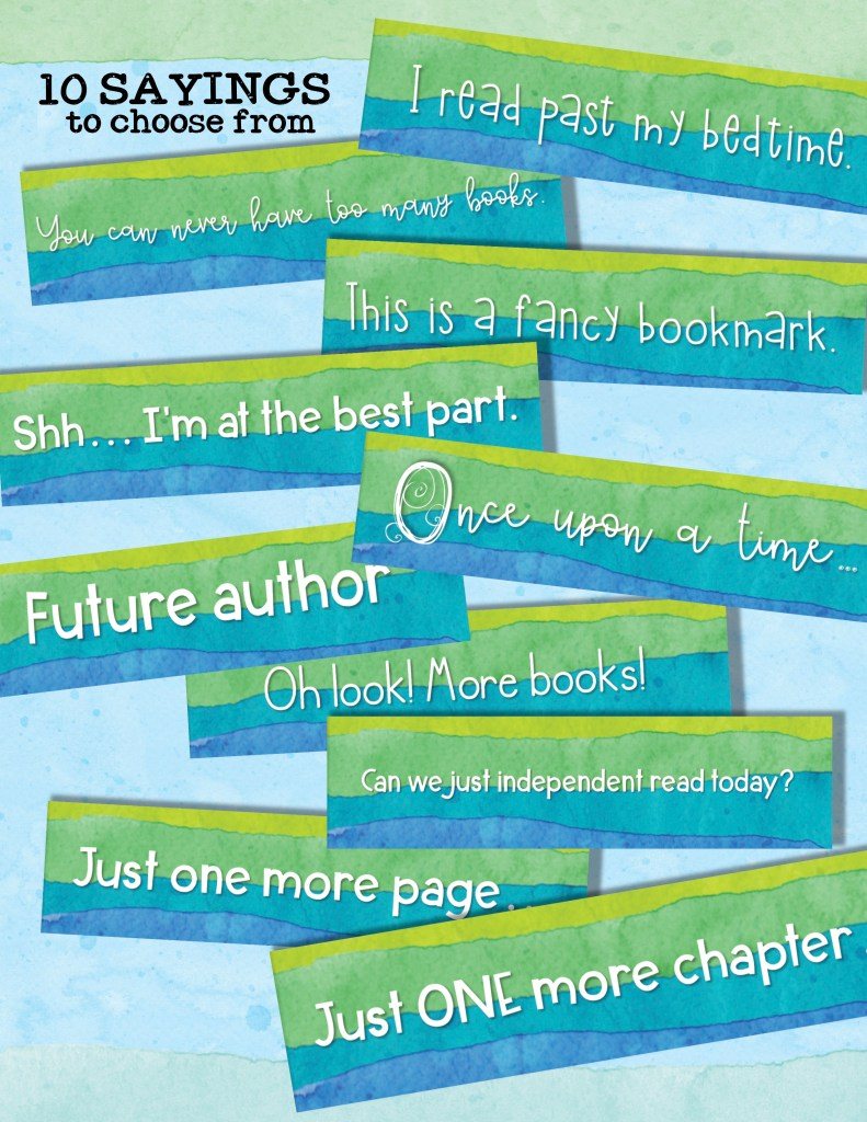 Personalized bookmarks make adorable inexpensive gifts for students!