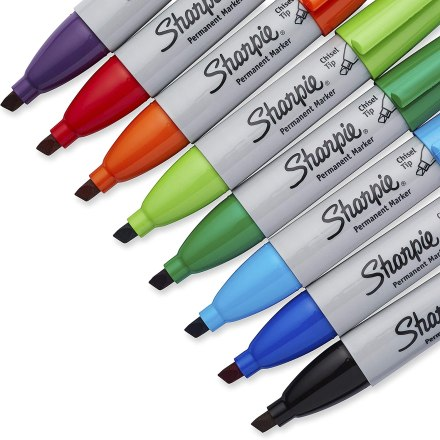 Chisel Tip Colorful Sharpies make Practical Holiday Gift Ideas for Teachers.