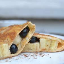 Gluten Free Banana and Blueberry Calzone