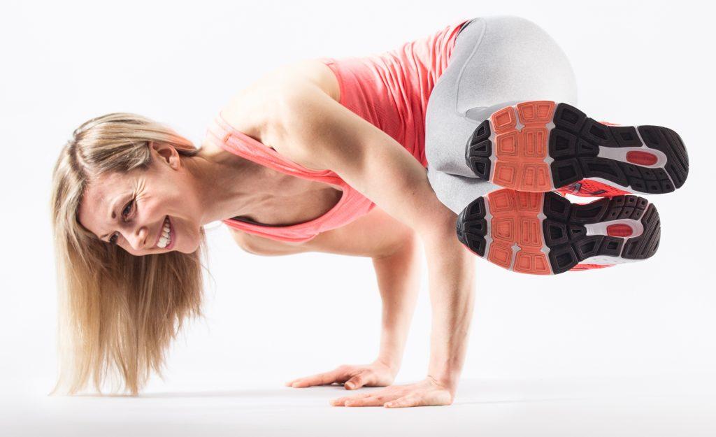 Keris Fitter Food Yoga Pose