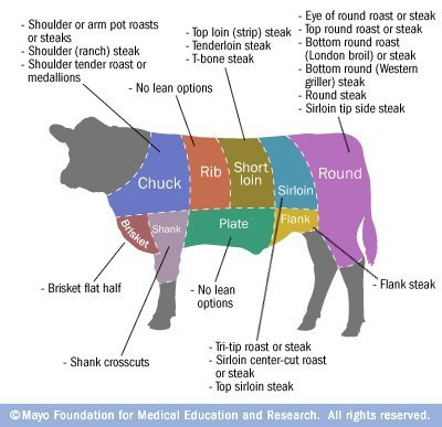 Which cuts of beef are the leanest