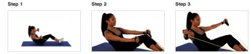 band ab exercises