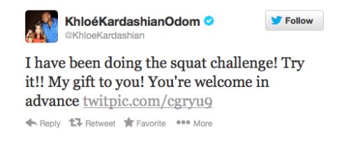 Khloe Kardashian twitter