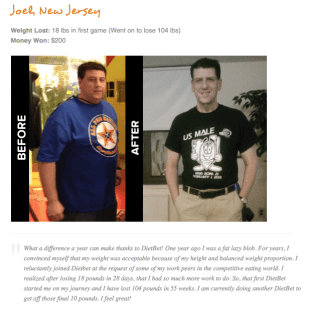 diet bet results