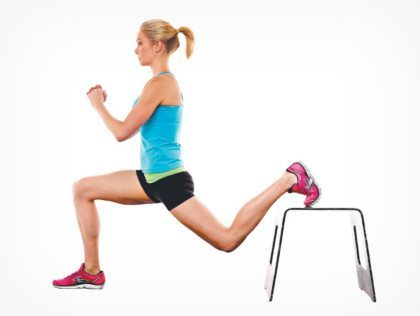 bench lunge