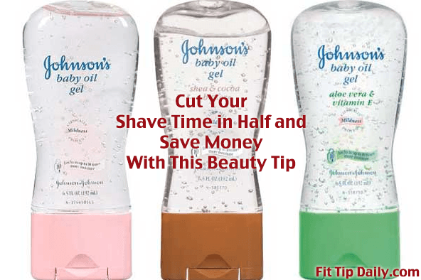 baby oil gel and shaving