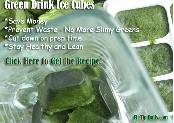 green drink ice cubes